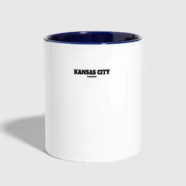 Kansas City KANSAS KANSAS CITY US EDITION - Contrast Coffee Mug
