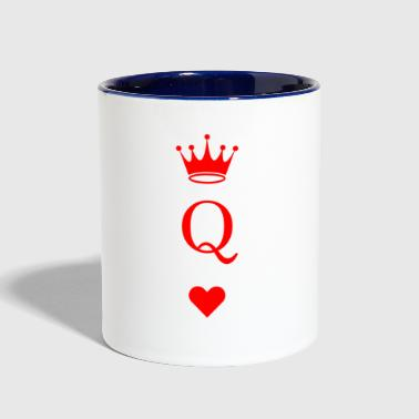Queen Of Hearts The Queen of hearts - Contrast Coffee Mug
