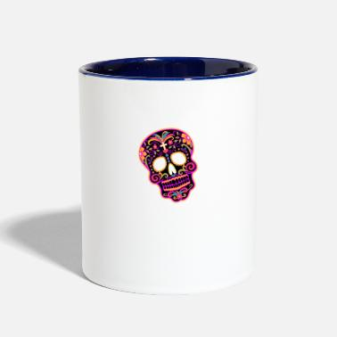 Decoration decorated skull - Contrast Coffee Mug