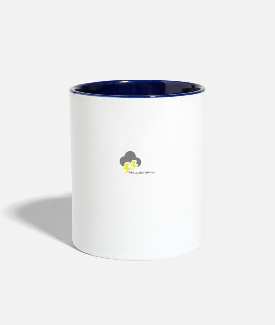 Storm Mugs & Cups - Weather, thunderstorm - Two-Tone Mug white/cobalt blue