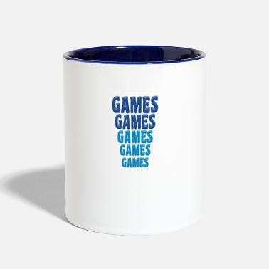 Gaming Games Games Games - Contrast Coffee Mug
