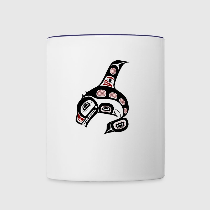 Northwest Pacific coast Haida art Killer whale - Contrast Coffee Mug