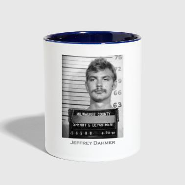Jeffrey Dahmer Serial Killer Mugshot - Contrast Coffee Mug