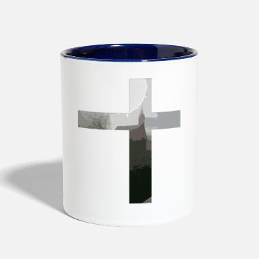 Crucifix Crucifix And Church - Contrast Coffee Mug