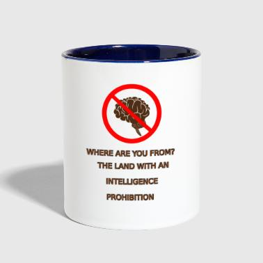 Intelligence prohibition - Contrast Coffee Mug