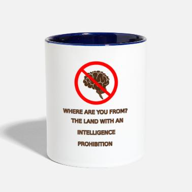 Prohibited Intelligence prohibition - Contrast Coffee Mug