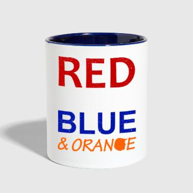 Red White And Blue Red White Blue and Orange - Contrast Coffee Mug