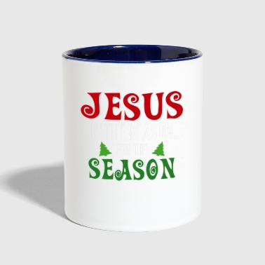 Jesus is the Reason for the Season Religious - Contrast Coffee Mug