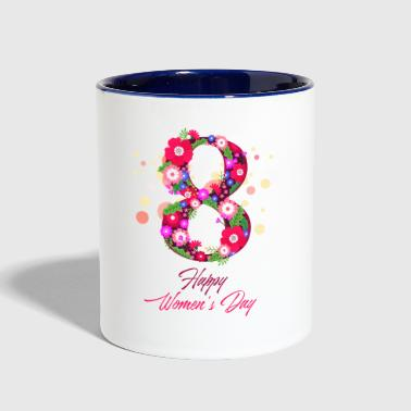 happy women day 8 march - Contrast Coffee Mug
