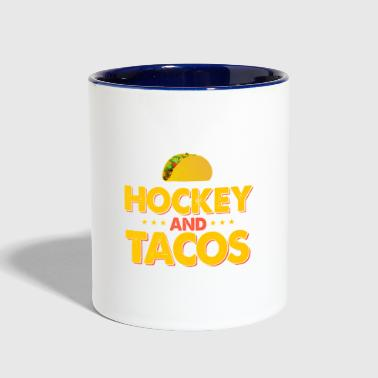If It Involves Hockey and Tacos Count Me In Hockey - Contrast Coffee Mug
