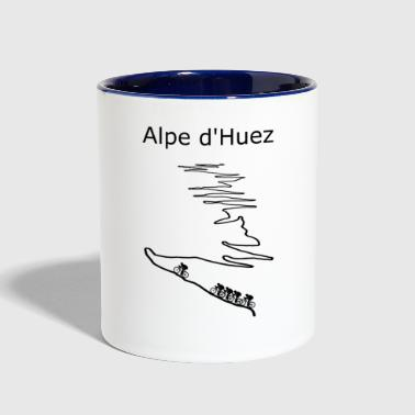 Alpe d Huez black for cyclist - Contrast Coffee Mug