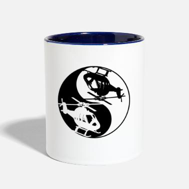 Helicopter Yin And Yang Helicopter Cool Chinese Tai Chi - Contrast Coffee Mug