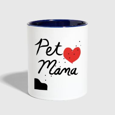 Pet Pet Mama - Contrast Coffee Mug