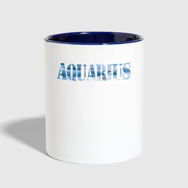 Aquarius Horoscope - Contrast Coffee Mug