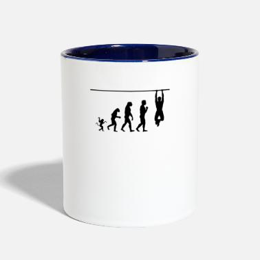 Crossfit crossfit evolution, #crossfit - Contrast Coffee Mug