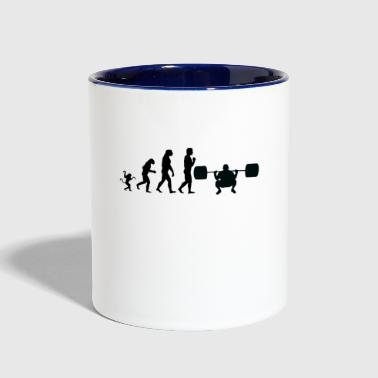 weight lifting evolution, #weight lifting - Contrast Coffee Mug