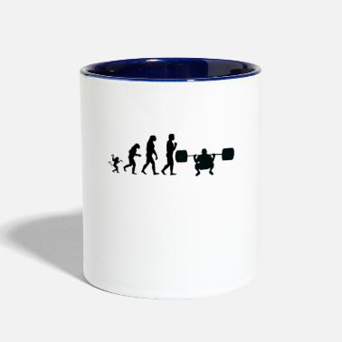 Weight Lifting weight lifting evolution, #weight lifting - Contrast Coffee Mug