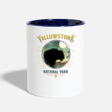 Utah Yellowstone National Park - Contrast Coffee Mug