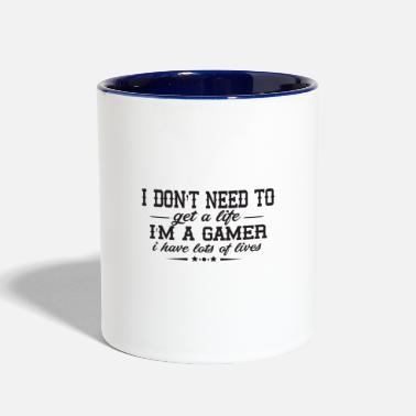 You have several lives as a gamer - Contrast Coffee Mug