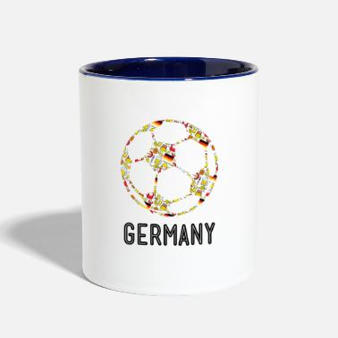 World Soccer world cup Team Germany - Contrast Coffee Mug