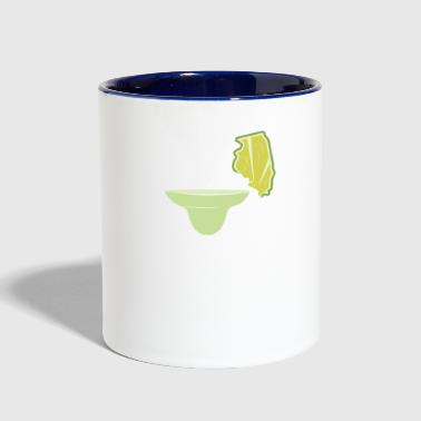 Margarita Frozen Margarita Shirt Illinois Lime Margarita July 4th Margarita Mom - Contrast Coffee Mug