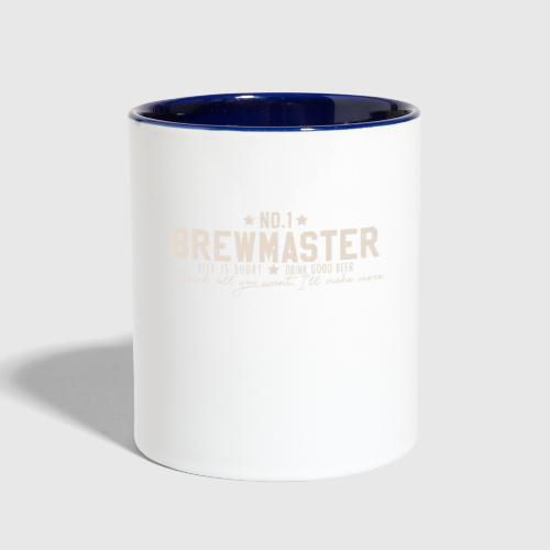 Number One Brewmaster - Beer Brewing Brewer GiftContrast Coffee Mug