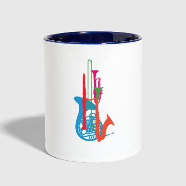 Wind Instruments - Contrast Coffee Mug