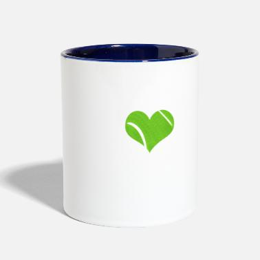 Tennis I Love Tennis Heart - Contrast Coffee Mug