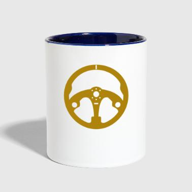 Steering Wheel Motor Car Race - Contrast Coffee Mug