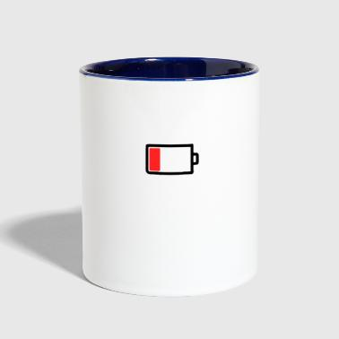 Mobile phone battery empty - Contrast Coffee Mug