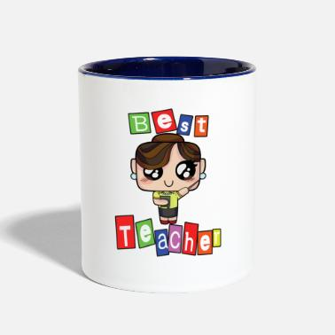 Teaching Teacher Teach School Kindergarten teaching tshirt love school teach 1 - Contrast Coffee Mug