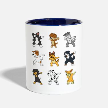 Boston Terrier S Dabbing Dab Dogs Dalmatian Jack Russel Terrier - Two-Tone Mug