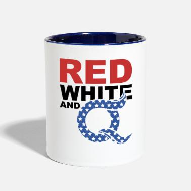 Qanon QAnon Art Storm The Great Awakening WWG1WGA Light - Two-Tone Mug