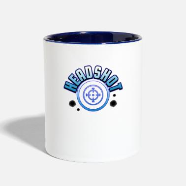 a66a766d1 Crosshair computer game shooter gamer gift - Two-Tone Mug