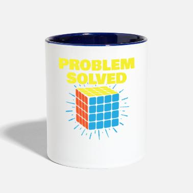 Rubiks Cube Vintage Games - Rubiks Problem Solved - Contrast Coffee Mug