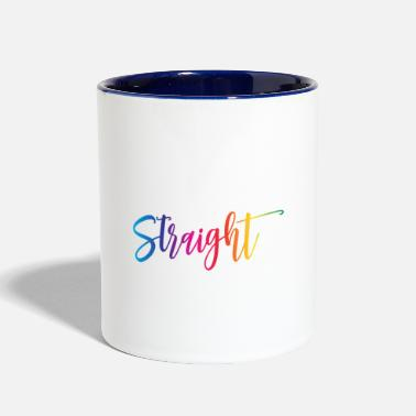 College I Started College With Straight A's - Two-Tone Mug