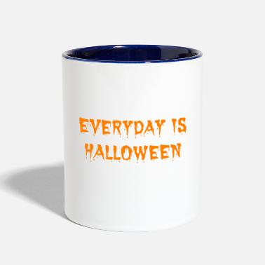 Halloween Everyday Is Halloween Tshirt Halloween Gifts - Two-Tone Mug