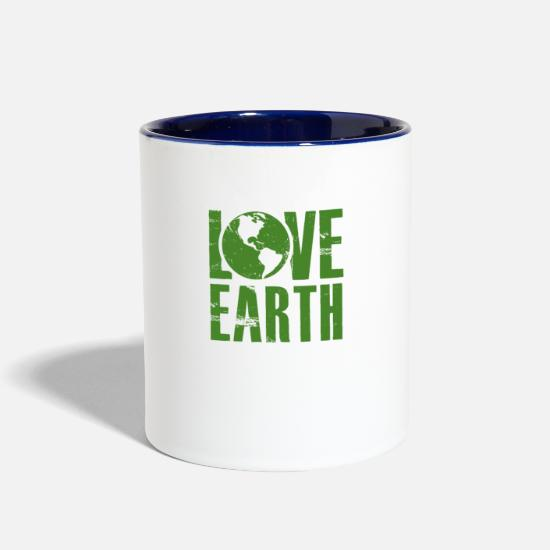 Friendly Mugs & Drinkware - Love Earth - Mother Nature -Total Basics - Two-Tone Mug white/cobalt blue