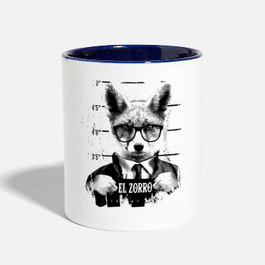 Animal Print Animal Print - El Zorro - Two-Tone Mug