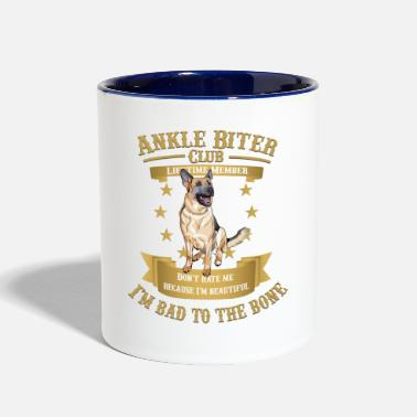 German German Shepherds are Bad to the Bone - Two-Tone Mug