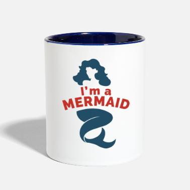 Lake I'm a Mermaid Love Mermaids Fairy Tail - Two-Tone Mug
