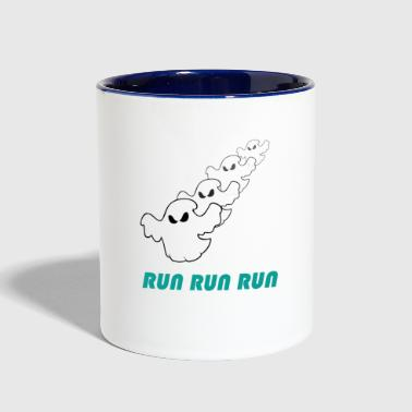 Run run run (ghost) - Contrast Coffee Mug