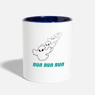 Running Run run run (ghost) - Contrast Coffee Mug