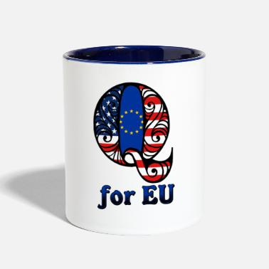 Eu Q for EU - Contrast Coffee Mug