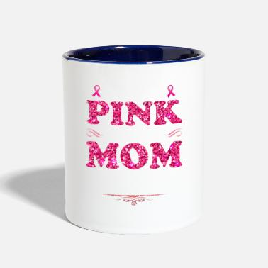 Wear I Wear Pink For My Mom Breast Cancer Awareness - Two-Tone Mug