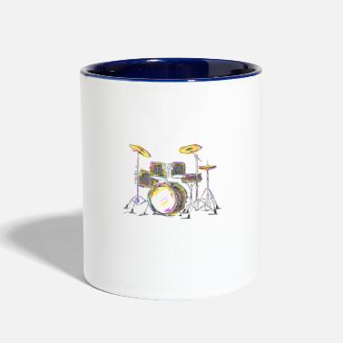 Drum Drumming Is My Passion Music Drums T Shirt - Two-Tone Mug