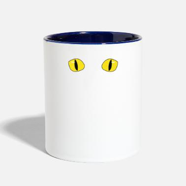 Psychic Your Friendly Psychic Tshirt Design psychic cat - Two-Tone Mug