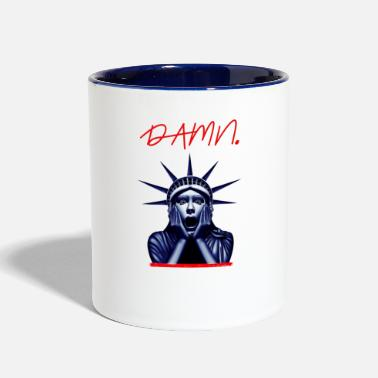 Bell DAMN Funny Statue of liberty - Two-Tone Mug