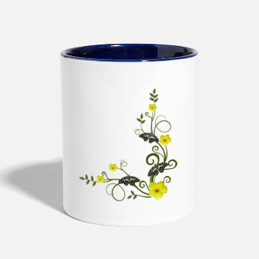 Kenya Flower and Butterfly in Kenya - Two-Tone Mug
