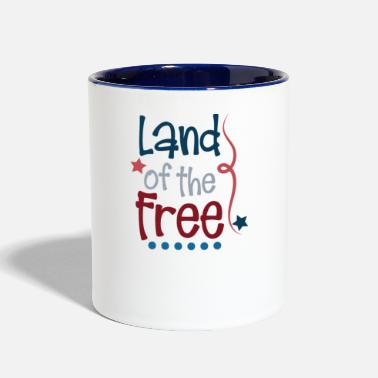 Labor Indepence Day Land of the Free July 4th Shirt - Two-Tone Mug